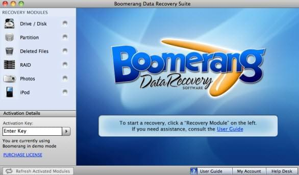 Boomerang Data Recovery Software voor Mac